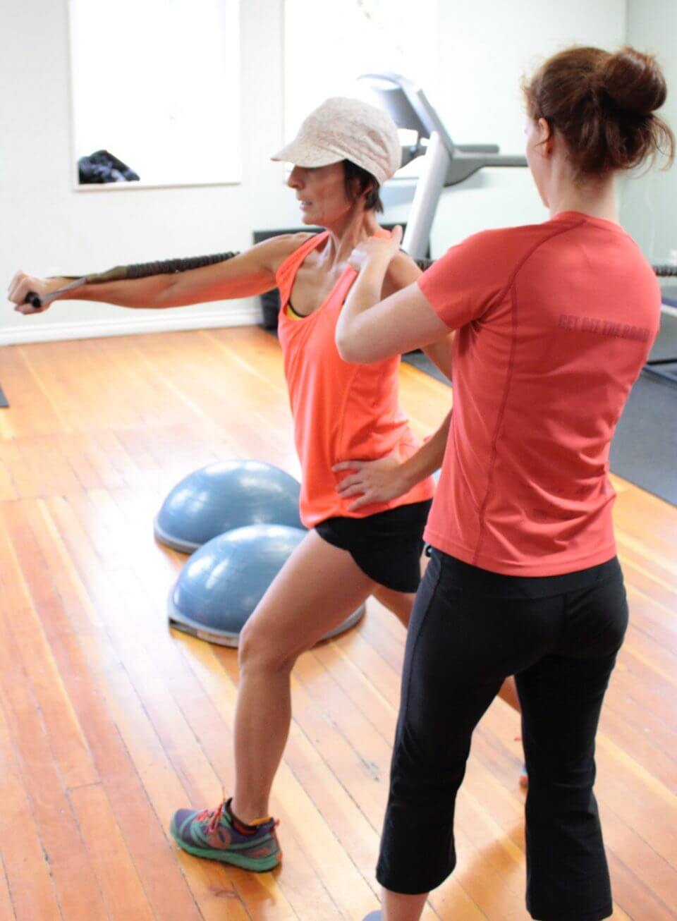 Personal Trainer at Breathe Fitness helping a client
