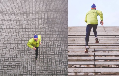 Motivation Running up Stairs